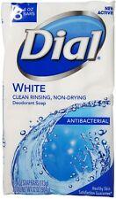 Dial Antibacterial White Deodorant Soap, 4 oz Bars, 8 ea (Pack of 2)