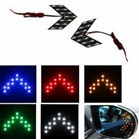 14 SMD LED Arrow Turn Signal Light For Car Rear View Mirror Panels Indicator