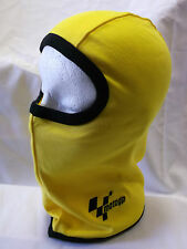 Bike It MotoGP  One Size Adult  Balaclava Motorcycle Headgear Yellow/Black Trim