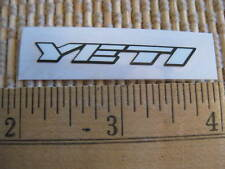 White YETI CYCLES MTB BICYCLES BIKE FRAME STICKER DECAL -- Out Of Production!!!