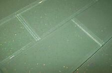 PACK OF 68 GLASS BRICK TILES - 'INFINITY' GLITTER AQUA