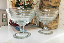 2 Gorgeous Art Deco Looking Clear Glass Bowls