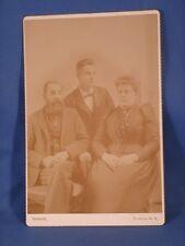Vintage Cabinet Photo 2 Men, 1 Women,Tubbs, Greene, NY