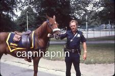 Boston MA Police Officer & Police Horse Vintage Slide Photo Policeman