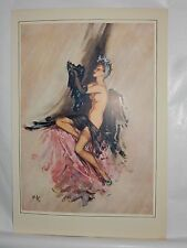 Boudoir Salon 1940s 50s  Decor Vintage print from photographers studio  nude ..4