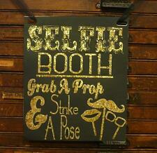 Photo Booth Wedding Engagement Sign SELFIE BOOTH SIGN