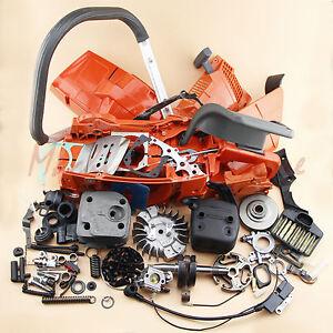 Complete Parts For Husqvarna 365 362 371 372 372XP Cylinder Crankcase Carburetor