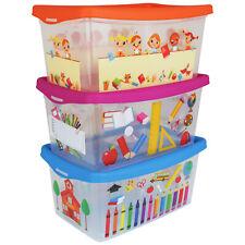 3er Set Aufbewahrungsbox Kinder Spielzeug Spielkiste Kiste Korb Box Aufbewahrung