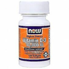 4 X Now Foods Vitamin D-3 10000 IU 120 Softgels D3 High Potency