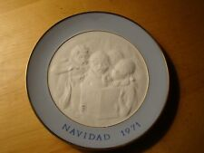 Lladro Navidad 1971 Plate Made In Spain Free U.S. Shipping!