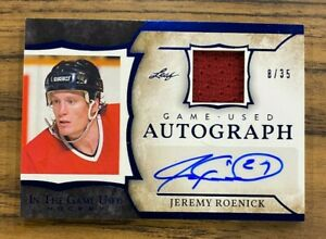 2020-21 Leaf In The Game Used Jeremy Roenick 8/35 Auto Jersey Chicago Blackhawks