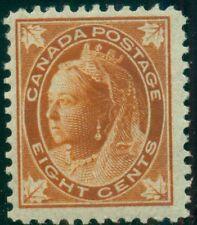 CANADA #72 8¢ orange, og, NH, fresh and F/VF Scott $625