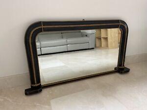 Victorian overmantle ebonised mirror
