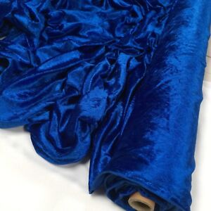 Premium CRUSHED VELVET FABRIC Craft Stretch Velour Material 150cm Extra Wide