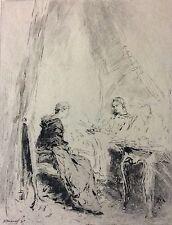 Ernest Meissonier la convalescante gravé par Mordant 1893 engraving