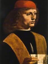 Leonardo di ser Piero da Vinci Franchino Gaffurio Antiguo Arte Pintura Impresión 1883OM