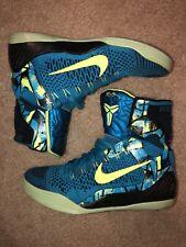 Nike Kobe IX 9 Elite High Perspective Men's Size 8 Neon Turquoise Black Volt