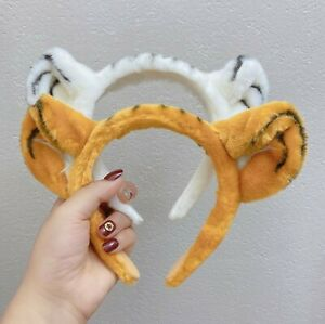 Women Children Brown or White Tiger Costume Ear Jungle Party Hair headband