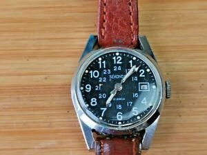 Rare Vintage Sekonda Cal Z2014A Ladies 22 Jewels Military date Watch, Working