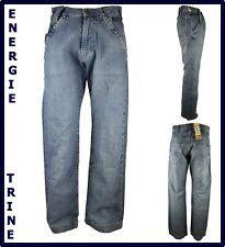 pantaloni jeans energie da uomo larghi largo baggy skate hip hop rap 42 44 46
