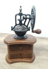 Champion Cast Iron Hand Crank Coffee Grinder with Wooden Base Coffee Mill