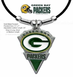 GREEN BAY PACKERS NECKLACE for MALE FEMALE NFL FOOTBALL ADJUSTABLE FREE SHIP  #L