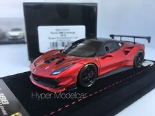 BBR Model 1/43 Ferrari 488 Challenge Carbon Roof  2016 Red Met Art. BBRC197RF1