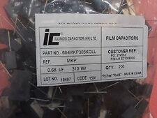 Lot x200   684MKP305KGLL  Film Capacitors 0.68 UF MKP X2 MPX 310Wv