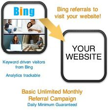 Website Visitors- 5 days/2000 Bing Referrals/Visitors to your website