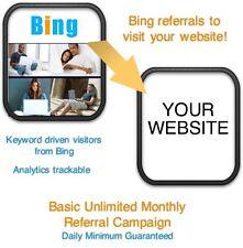Website Visitors- 15 days/6000 Bing Referrals/Visitors to your website