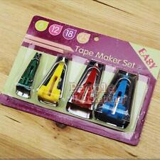 Bias Tape Maker Kit 6mm 12mm 18mm 25mm Binding Strip Awl Tool Sewing Quilting #P