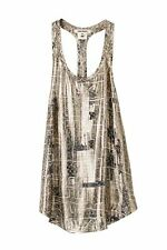 BNWT ISABEL MARANT POUR COLLECTION FOR H&M METALLIC RACER BACK TOP  SIZE 8 RARE