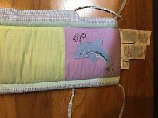 Baby Girl or Boy Tiddliwinks Reversible Nursery Crib Bumper Pad Multicolor Blue