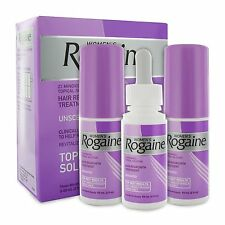 Rogaine for Women Hair Regrowth Treatment 3- 2 ounce bottles Unscented exp. 2019