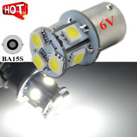 4 x 6V 1156 ba15s 5050 SMD LED White Car Bulb Light Brake/Turn/Tail/Reverse Lamp