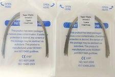 Orthodontic Arch Wires Rectangular Niti Super Elastic 16X22 U/L Dental 10Packs