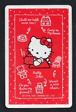 Vintage Playing Swap Card :    SANRO - MISS KITTY