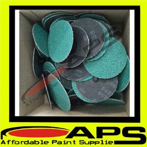 """50x  2"""" 50mm Roloc quick change sanding discs 80 grit  (Panel Shop Quality)"""
