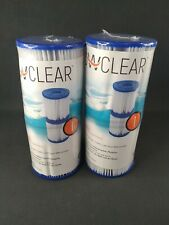 2 Pack Flow Clear Bestway Size I Filter Cartridge Pool Spa Pump 58093E