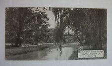 Vintage Hershey Chocolate Candy Bar Card Postcard Hershey Park Rustic Bridge