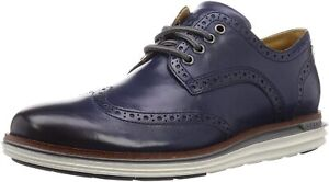 Mens Cole Haan Original Grand Wing Ox Luxury - Marine Blue, Size 9.5 M [C31550]
