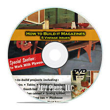 How To Build it Magazine, 5 Home Woodworking Projects Magazine, PDF DVD D01