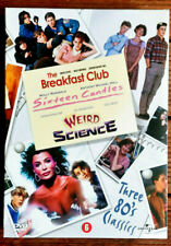 RARE Coffret 3 DVD 80's classic-The Breakfast club-Weird science-sixteen candles