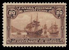 "CANADA 103 - Quebec Tercentenary ""Cartier's Arrival in 1535"" (pa19932) $400"
