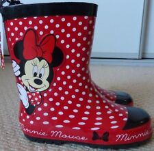 0c8b438c7b96e NWT Disney Licensed Minnie Mouse Girls Rubber Gum Rain Boots Size 8 9 10