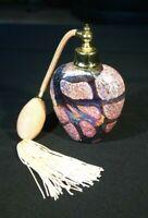 Beautiful Vintage Art Glass Perfume Bottle