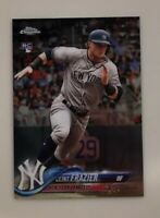 Clint Frazier 2018 Topps Chrome Update Rookie Card #HMT21  New York Yankees RC