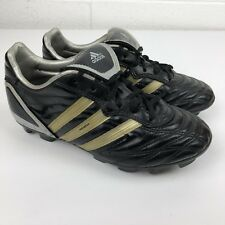 Adidas Soccer Cleats Youth Size 1.5 Black Gold - Acuna