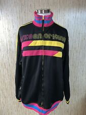 Miskeen Medium Vintage 90s Vibrant HIP HOP color block Spell out Zip Jacket