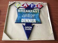 "18 1/2"" X 14"" SHAPED WOODEN SIGN CAFE BREAKFAST LUNCH DINER WALL DECOR PLAQUE"